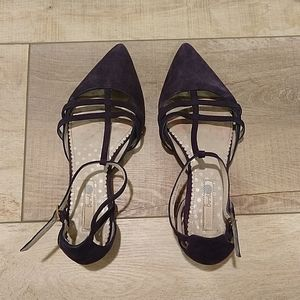 Boden Navy Blue Suede flats